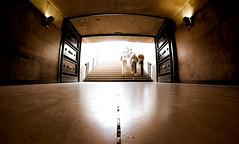 Open the doors... (VeNiVi) Tags: light people paris reflection silhouette reflections lumire reflet tunel arcdetriomphe reflets gens marbre aficionados badauds aficinonados arcofzetriomphe