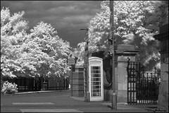 elderly people (vcrimson) Tags: nottingham england bw landscape ir surreal infrared