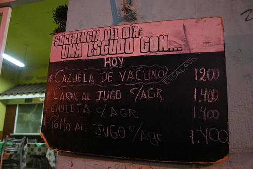 The Menu. Los Andes - Chile.