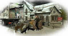 moving in (Nadia..Malady Baxton) Tags: secondlife moving new home house snow dogs furniture