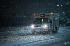 Snowy night on duty (Daniel's Clicks) Tags: