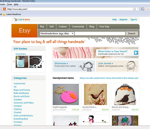First time on the Front Page of Etsy!