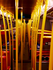 Subway Wagon (C_MC_FL) Tags: vienna wien lines train subway wagon photography austria sterreich focus fotografie pov row repetition ubahn fujifilm inside narrow eng endless repeating endlos reihe durchgang wiederholung wienerlinien s100fs haltestangen stadtgetty2010 gettyimagessalq1