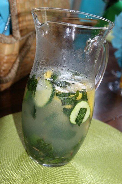 Iced Vodka & cucumber drink