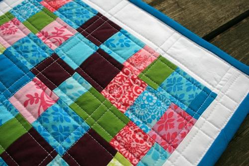 scrappy mini quilt