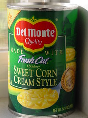 take a can of creamed corn pickles and tea