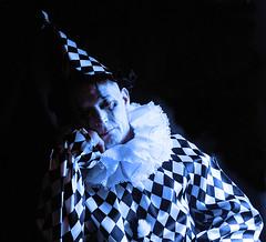 Blue Clown (luns_spluctrum) Tags: blue people tlr interestingness interesting clown mat 124 human yashica fujipro400h