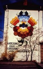 Bunawerk advertisement, Merseburg Apr 1995 (stilo95hp) Tags: advertising ddr buna gdr vanished merseburg plaste entfernt elaste schkopau fassadenbeschriftung