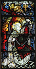 Kempe angel (Lawrence OP) Tags: church glass parish angel stained thurible censer kempe cumnor
