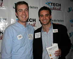 TECH cocktail Co-hosts Eric Olson and Frank Gruber