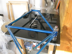 IMG_0127 (horse cycles) Tags: nyc horse bike brooklyn paint track hand handmade thomas steel welding fork jig made frame custom build pista touring callahan cycles framebuilding prosses