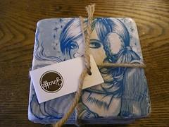Tile Coasters bought at No Coast Craft-o-Rama
