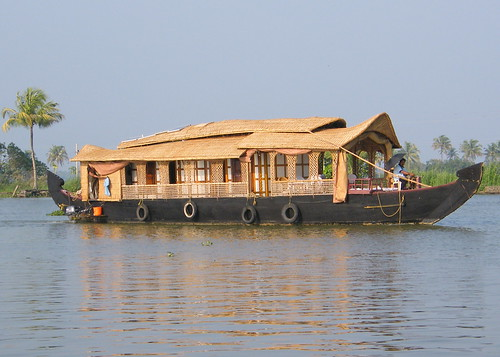 Indian Kerala Backwater Kettuvallam (Rice Boat)
