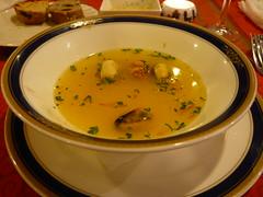 ムール貝のサフランスープ
