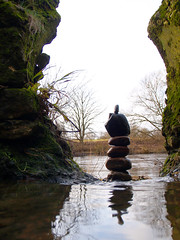 odysseus balance (Pickersgill Reef) Tags: rock river stones balance blackwell tees channel2 odysseus slowtv scyllaandcharybdis