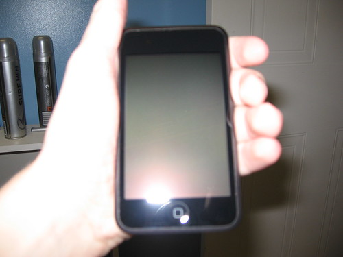 iPod Touch in hand
