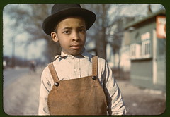 Negro boy near Cincinnati, Ohio  (LOC) (The Library of Congress) Tags: boy ohio portrait black color colour film hat race 35mm vintage children kid dof child bokeh buttons cincinnati negro streetphotography slide 1940s bowlerhat overalls africanamericans africanamerican blacks americana libraryofcongress 1942 dungarees amerika bowler corduroy sort 1943 fsa coveralls dapper shallowdepthoffield selectivefocus controversial hamiltoncounty negroes dreng vachon johnvachon farmsecurityadministration dapperhat xmlns:dc=httppurlorgdcelements11 africanamericanchildren dc:identifier=httphdllocgovlocpnpfsac1a34281 brownoveralls lillesortdreng betuttetud commons:event=commonground2009 childrenarenevercontraversialoverlyfranchisedadultsare