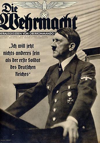 Nazi Poster - Adolf Hitler - Die Wehrmacht. World War II - Propaganda