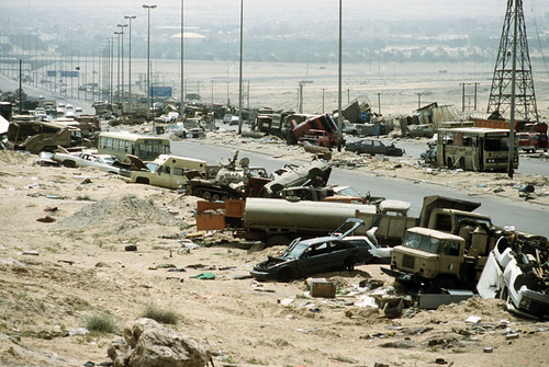 "Highway of Death ""Kuwait Basra"" 26 February 1991"