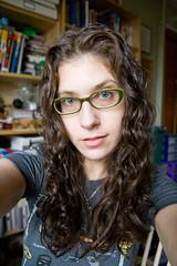 Day 25: Dye and a Haircut, Two Bits (Angela.) Tags: haircut selfportrait digital canon rebel raw curls curly angela curlyhair spacegirl 365days xti beehivesalon 400d tamron1750mmf28 366days canondigitalrebelxti img5527