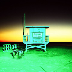 ave 26. venice beach, ca. 2007. (eyetwist) Tags: ocean longexposure venice sunset 6 seascape green tower 120 6x6 mamiya beach mediumformat square la stand losangeles los twilight xpro crossprocessed sand meer cross pacific angeles kodak ambientlight crossprocess lifeguard ishootfilm hut pacificocean chemistry venicebeach shack mamiya6 process ektachrome processed e100vs baywatch westla 2007 afterglow lifeguardtower civiltwilight top20xpro noritsu primes lifeguardhut betterlivingthroughchemistry 100vs santamonicabay oceanfrontwalk eyetwist sodiumarc 6mf venicebeachboardwalk mamiya6mf 26thavenue 6x6x6 toxiccolors ishootkodak ave26 aicolor av26 contactforstockusage thisimagemaybeavailableforlicensecontactformoreinfo veniceca90291