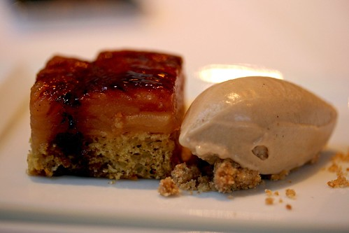 Apple Confit, Pine Nut Sponge, Smoked Raisin, Tamarind Ice Cream