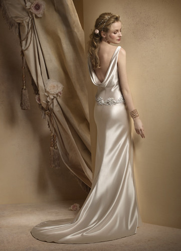 satin wedding dress gown 2009