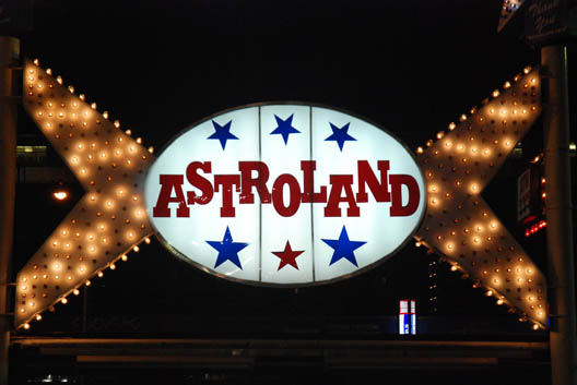 Astroland Sign Night
