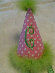 Clara Ann's party hat