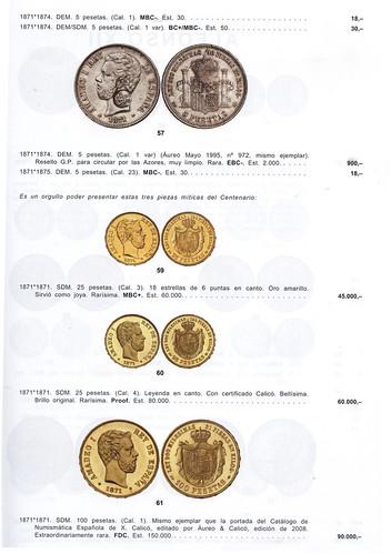 monedas de oro de amadeo