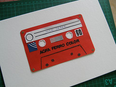 cassette (miss.see) Tags: red cutout paper tape cassette papercut tapeplayer nickdrake