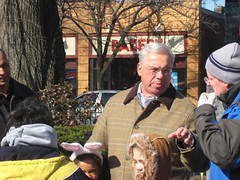 Mayor Menino hanging out at the Easter Egg hunt