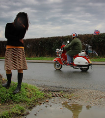 All Mod Cons (harrietbarber) Tags: rural puddle mod vespa scooter chrome dorset bullseye arne moped unionjack parka wareham scooterrally twotone thejam stoborough melancholylane saturdayskids