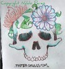 SKULL & FLOWERS Did this quick