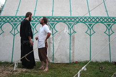 A discussion (Velorutionary) Tags: festival canon eos 350d sca painted tent medieval vandal 2008 waldo 08 abbotsford lochac rowany stormhold