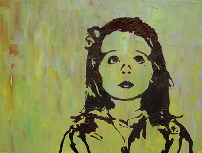 Stencil Portrait - Jessica's daughter