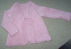 Pikkutytön neuletakki (90 cm) Novitan Siljasta