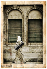 On The Way (Jamal Alayoubi) Tags: street old travel portrait man art texture window paper photo nikon walk egypt east arab deviant middle nikkor 70200 d3 jamal  teared aplusphoto alayoubi