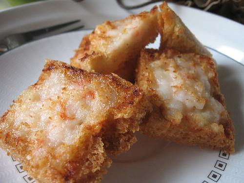 Shrimp Toast, Prawn Squares - golden delicious! ~ Teczcape ...