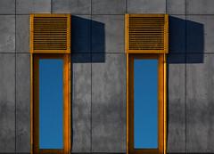 Twins in blue (jefvandenhoute) Tags: belgium belgië belgique mortsel light shapes blue twins harmony soldiers rx10 photoshopcs6