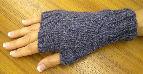 Basic Gloves Knitting Pattern : Ravelry: Easy Fingerless Mitts pattern by Maggie Smith