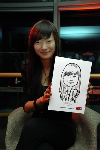 Caricature live sketching for TLC - 16