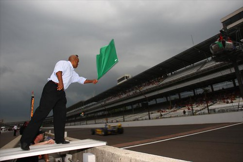 Willy T Ribbs waves the green flag