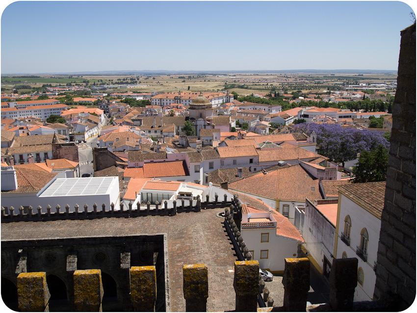 Evora du toit de la cathédrale