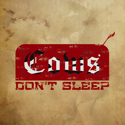 Cows Don't Sleep -Logo.(onitsuka tiger's modified design)