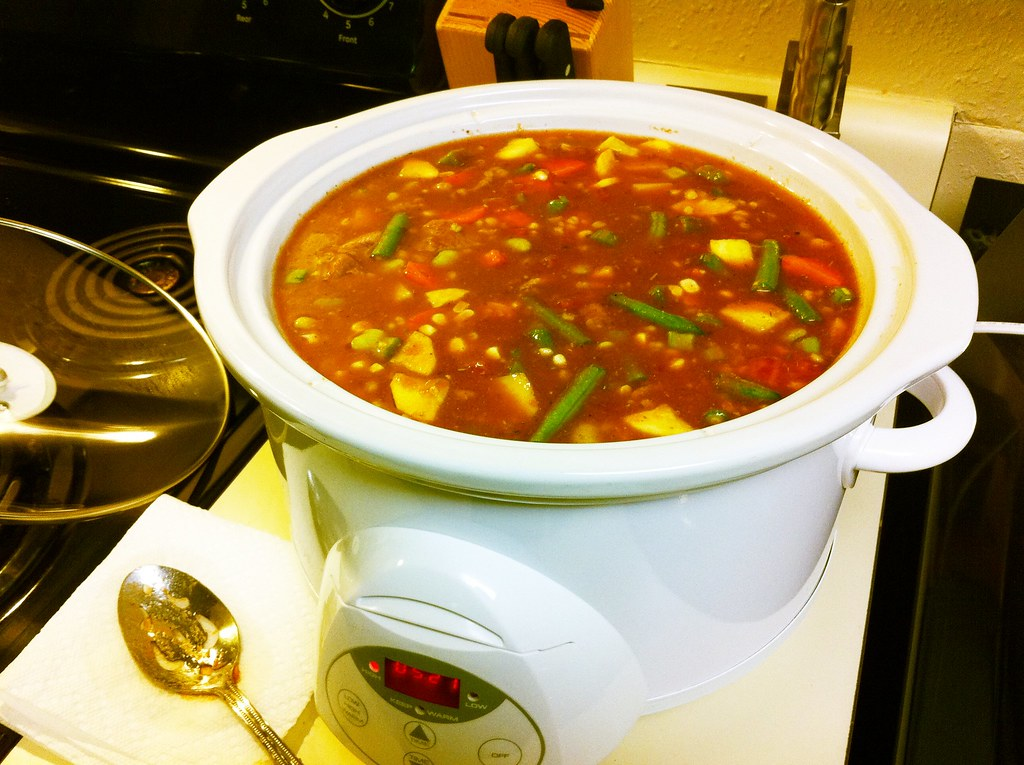 Homemade Organic Vegetable Beef Soup