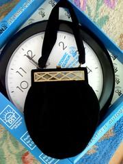 Atomic purse (JoulesVintage) Tags: pocketbook lined vintagehandbag blackwool vintagepurse insidepockets