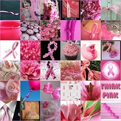 Passionately Pink for the Cure (HeatherSB) Tags: pink fdsflickrtoys mosaic favorites ribbon breastcancerawareness pinkribbon passionatelypinkforthecure