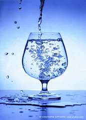 Glass of water (Konstantin Sutyagin) Tags: motion water glass fresh freeze pouring strobist