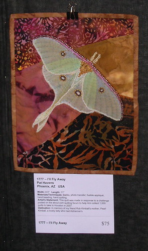 Pat's Luna Moth for Project Alzheimers